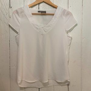 White capped sleeve blouse Size S